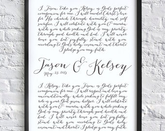 DIGITAL Calligraphy Vows