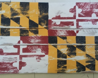 Pallet/Reclaimed Wood State of Maryland Flag