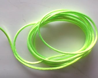 4 yards of round color lime green art RAT tail cord 269