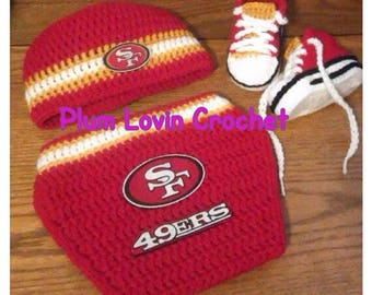 Crochet San Francisco 49ers inspired outfit