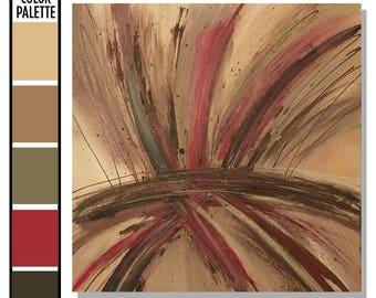 Abstract Wall Art, Abstract Wall Decor, Canvas Art, Brown and Red Decor, Tan Wall Art, Trendy Wall Art, Abstract Art, Wall Art Canvas, Beige