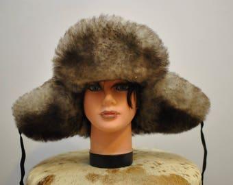 Vintage LAMBSKIN WINTER FUR hat , women's handmade fur hat..............(023)