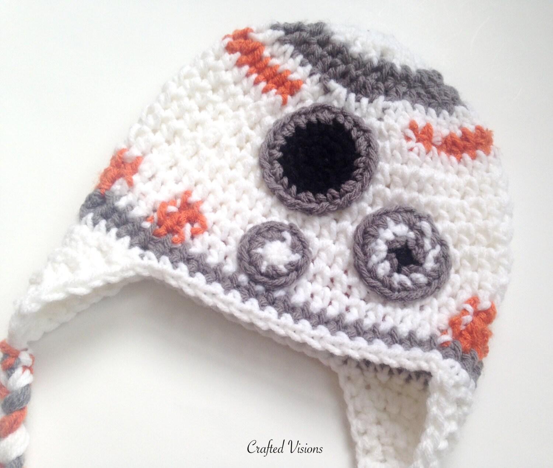 PATTERN** Crochet BB2 hat, All Sizes, Newborn to Adult, Star wars ...