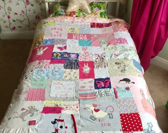 Memory single bed sized quilt
