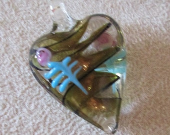 Glass Heart Pendants in Your Choice of Design
