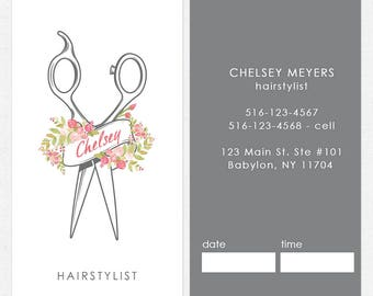 Hair stylist business card etsy hairstylist or hair salon business cards color both sides free ups ground shipping colourmoves