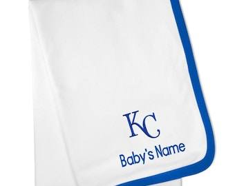 Personalized Kansas City Royals Baby Blanket