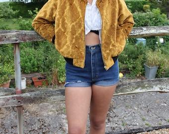 Bomber Jacket, Cropped Jacket, Velvet Jacket, Embroidered Jacket, Boho Ladies Clothing, 90s Bomber Jacket, Embroidered, Boho Chic