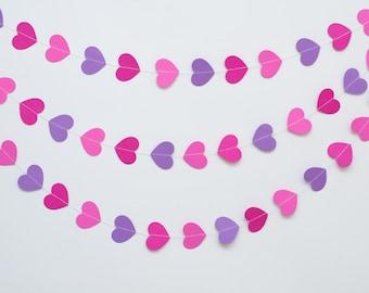 Paper garland heart
