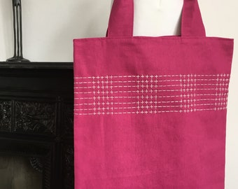 Hand Embroidered Tote Bag
