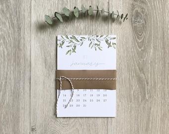 small desk calendar 2018