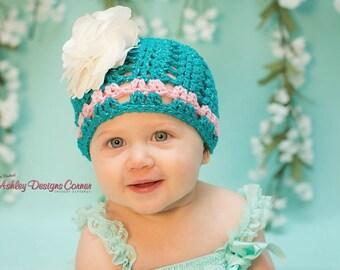Crochet Pattern Ava Beanie (Newborn - Adult) - PDF - Instant Digital Download