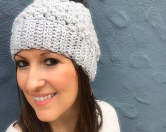 Lily Slouch Beanie, Crochet Beanie