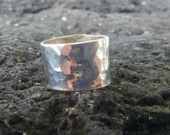 Hammered band, beard jewelry