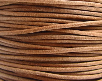 2 Yards - 2mm Natural Leather Cord