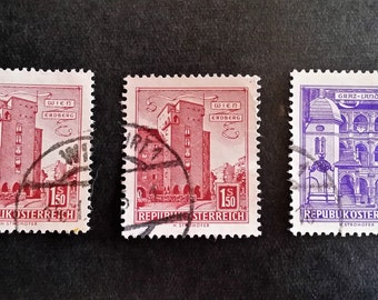 Austria Vintage 1960's Postage Stamps - FREE DOMESTIC SHIPPING