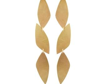 Brass Dahlia Earrings