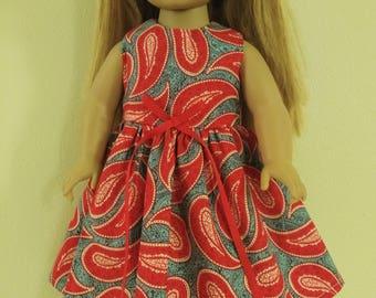 "18"" Paisley Doll dress"