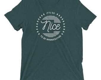 Minnesota Nice Shirt: It's So Nice To Be Minnesotan T-Shirt