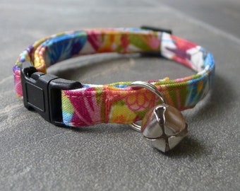 CAT COLLAR Butterflies break away with bell
