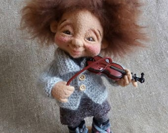 """Felted doll """"Violinist"""""""