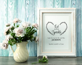 Sparkler Send off Sign, Let love sparkle Sign Template, wedding sparkle sign printable