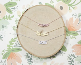 Mother Necklace | Mommy Jewelry | Mama Necklace | Mama Bear | New Mother Jewelry | Mommy and Me | Pregnancy Reveal | Mothers Day Gift