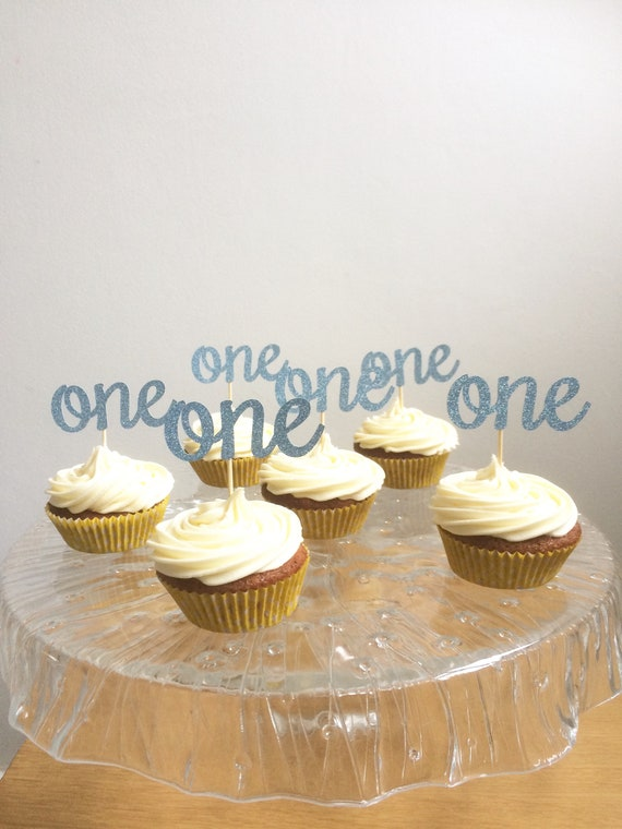 One Birthday Cupcake Toppers