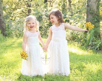 lace flower girl dress, flower girl dresses, lace baby dresses, christening dress, white lace dress, big bow, flower girl dress white lace