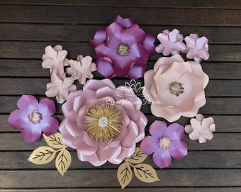 Lily Loves Luka SUPER MINI paper flower backdrop/Paper flower wall/Wedding Backdrop/Bridal or Baby shower/Sweet table/Christening /Nursery