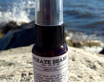 Pirate beard- beard oil, all natural beard conditioner, beard care, gift for him, boyfriend gift, Father's Day gift