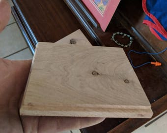 custome made mesquite wood coasters set of 4