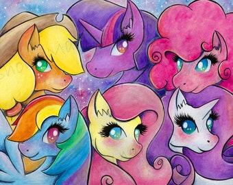 My Little Pony / A4 Glossy Photo Print