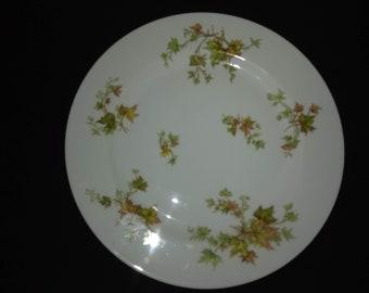 "Haviland Autumn Leaf China 10"" Dinner Plate"