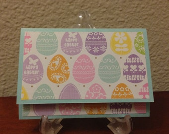 Gift Card Holder: Easter Giftcard Holder / Happy Easter Egg. ready to ship