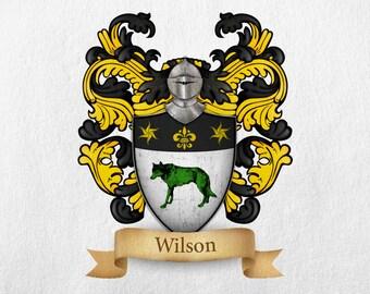 Wilson  Family Crest - Print