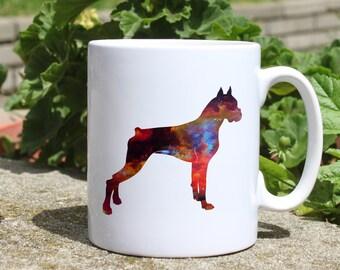 Boxer mug - Dog mug - Colorful printed mug - Tee mug - Coffee Mug - Gift Idea
