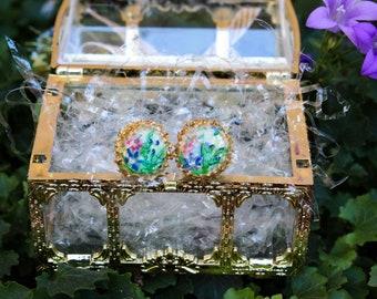 Custom jewelry, handpainted earring, gift for her, jewelery handmade, custom jewels design, anniversary gift, gift for mom, gift for Sister