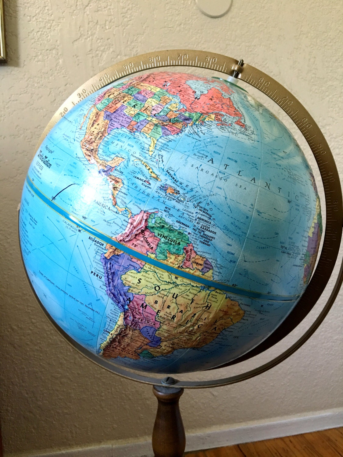 rose globes product inch z antique colombo photo with floors floor standing stand large italian shop globe political world
