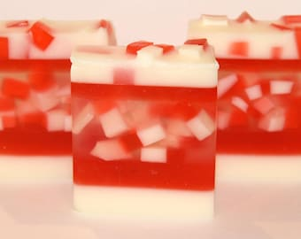 Peppermint Soap, Peppermint Bark Soap, Bar soap, Christmas Soap, candy cane soap, Holiday Soap, gift idea, soap, Peppermint