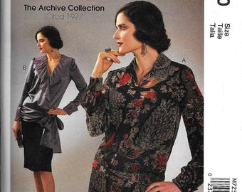 McCall's M7250 Blouse Top Pattern Flapper, Miss Fisher Cosplay Archives 1920s Size 6, 8, 10, 12, 14