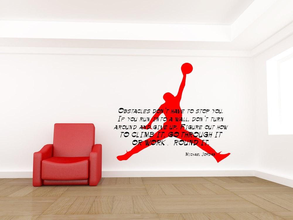 Michael Jordan Decal Michael Jordan Zitat