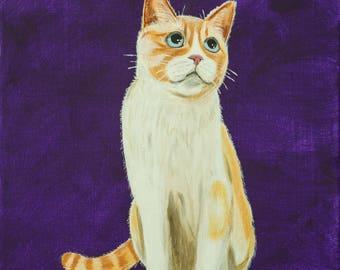 Custom Acrylic Painting Pet Portrait