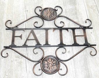 Have Faith Metal Wall Art