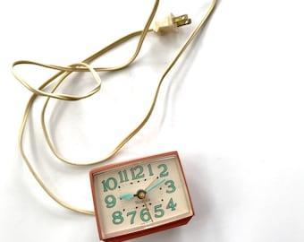 Vintage Pink Westclox Alarm Clock