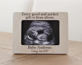 Pregnancy Announcement, Ultrasound Sonogram Frame, Expecting, Pregnancy Personalized Picture Frame Gift Every Good and Perfect Gift