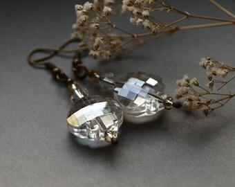 Bohemian Crystal Earrings, Vintage StyleGlamour Crystal Earrings, Boho Jewelry, Gift for Her, Crystal Jewelry