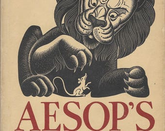 Aesop's Fables, Edited and Illustrated with Wood Engravings by Boris Artzybasheff 1933