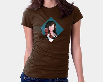 Final Fantasy 7 Shirt - Tifa Lockhart - FF7 shirt - T-shirt for Women Men by Drawsgood - FFVII tshirt - Video Game T-shirt