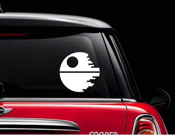 Vinyl car decal white death star decal car sticker